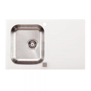 onyx white 300x300 - Мивка Tedan Onyx  с бяло и черно стъкло.